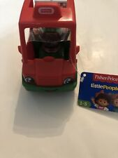 Fisher Price Little People Have a Slice Pizza Delivery Car w/Driver & Pizza Box