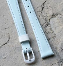 Pale blue Genuine Leather 11mm ladies vintage watch band European Made old stock