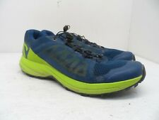 Salomon Men's Xa Elevate Trail Running Shoe Poseidon/Lime Green/Black 9M