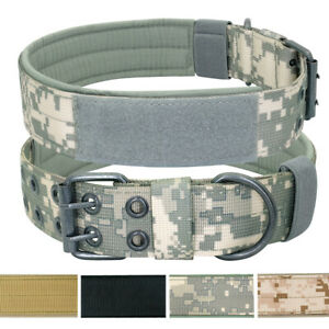 Tactical Dog Collar Nylon Adjustable K9 Collar Heavy Duty Military Dog Collar