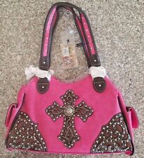 Montana West Purse New W/Tags Hot Pink & Black Cross Bag OV 8136 HPK