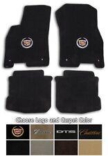 2006-2011 Cadillac DTS 4pc Velourtex Carpet Floor Mat Set - Choose Color & Logo