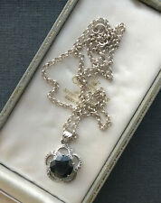 """STERLING SILVER SPINEL PENDANT 21"""" SOLID 925"""