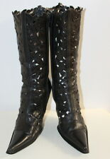 Matricule black cut-out boots women Eur 37 US-Aus 6.5 UK 4.5 Used from Italy
