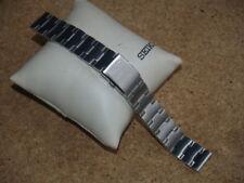 Seiko 18mm Reloj Correa de banda de acero inoxidable sólido con extremos plana E127-B.I