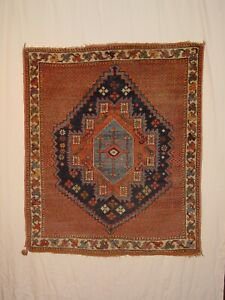 WONDERFUL ANTIQUE 1910 AFSH. RUG KURDISH ****HG***