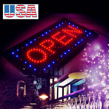 "2in1 Open&Closed LED Sign Store Shop Display Neon Light 9.8*20.47"" Safe EASY USE"