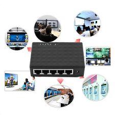5 Port 100Mbps Desktop Ethernet Network LAN Power Adapter Switch Hub EUPlug