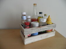 Wooden Crate Condiment Holder /Made from Reclaimed Wood / Unpainted
