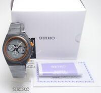 SEIKO spirit smart GIUGIARO sced053 Wristwatch Men 7T12 Gray Orange quartz Rider