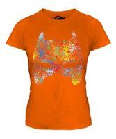 Masque Éclaboussures T-Shirt Femme T-Shirt Cadeau Coloré Éclaboussures