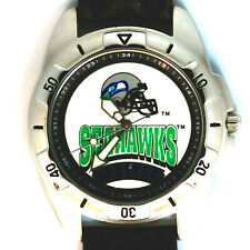 Seattle Seahawks NFL Fossil Mens Unworn Rare Vintage 1995 Leather Band Watch $85