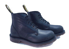 Dr. Martens Doc England Vintage Black Zambezi Leather Steel Toe UK 5 US 7