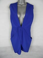 "Womens Finders Keepers Drape Dress Cobalt Blue Plunging Neckline W29"" B36"" UK10"