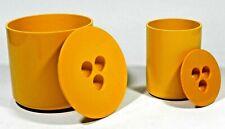 Vintage Yellow Crayonne Ice Bucket Canister 70's Plastic Melamine Conran Habitat