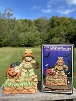 Vtg Brinn's CO Fine Porcelain Hand Decorated Halloween Musical Scarecrow Figure