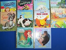 Lot 10 Little Golden Book Tootle Cinderella Scamp Mermaid Red Hen Mommy Jonah