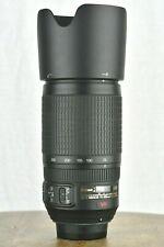 NIKON 70-300MM AF-S NIKKOR F4.5-F5.6G SWM VR ED IF ZOOM TELEPHOTO LENS +CAPS