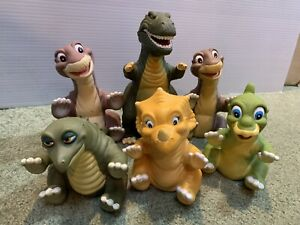 Six Vintage Pizza Hut 1988 Complete Lot 6 Land Before Time Hand Puppets T-Rex #1