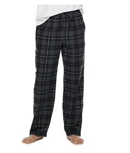 "Croft & Barrow Gray Black Plaid Flannel Lounge PJ Pants Pick Men""s L or XL NWT"