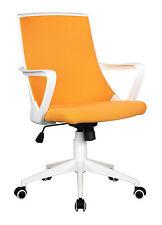 SixBros. Bürostuhl Drehstuhl Schreibtischstuhl orange/weiß 0722M/2243