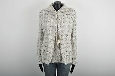 LANVIN 4000$ Auth New Ecru Wool Blend Tweed Jacket sz 40 8