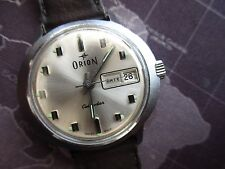 VINTAGE MENS MECHANICAL ORION WATCH,, FLYING SAUCER CASE STYLE,,, FOR PARTS