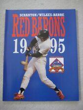 Scranton Red Barons 1995 Official Team Program-NEW