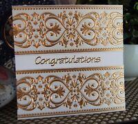 Card Making DIY Card Kit - Elegant Congratulations or Wedding Card