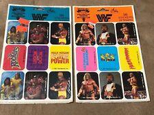 WWF 1991 Stickers Hulk Hogan Ultimate Warrior Big Boss Man Rockers Vintage Lot