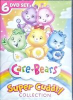 """CARE BEARS - SUPER CUDDLY  -  6 DVD SET """" NEW, SEALED """"  SHIPS FIRST CLASS FREE"""