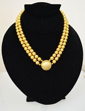 "STUNNING VINTAGE ESTATE SIGNED LCI GOLD TONE BEADED 17"" NECKLACE!"