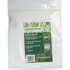 2 x Plant Protection Bags 0.6m x 0.8m Weather Cover Frost Wind Cold Shrub Bush