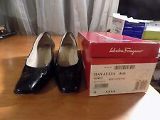 """Salvatore Ferragamo Shoes-Patent -made in Italy-""""Davallia""""  size 9AAAA"""