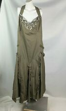 Together Women's Dress Size 20 New nwt Long Sleeveless Ruffles brown sequins