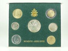 *** LIRE KMS VATIKAN 1996 BU Lira Coin Set Vaticano Münzen vor Euro ***