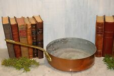 """Antique French Copper E. Dehillerin Large Sauce Pot Pan Stamped 9 3/4"""""""
