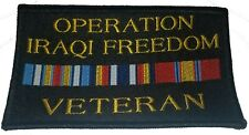 American Usa Us Oif Veteran Military Black Patch Operation Iraqi Freedom