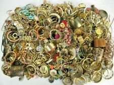 FULL 5 POUNDS Vintage Now Jewelry Junk Craft Box Brooch Necklace MORE Huge Lot