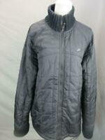 NIKE SIZE L MENS BLACK FULL ZIP INSULATED QUILTED WINDBREAKER JACKET T105