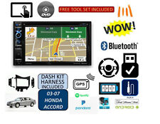 03-07 HONDA ACCORD GPS NAVIGATION SYSTEM BLUETOOTH/USB/EQ CAR RADIO STEREO PKG