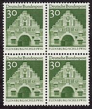 Germany: 12 Centuries of Architecture; 30pf block of 4; mounted mint cat £1.4