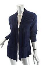 MICHAEL KORS Navy 100% Cashmere Ribbed Cardigan Sweater   Sz XS   No Closure