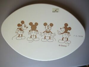 Disney cream wood etched Mickey Mouse plaque, Fig. 1938, nice for baby's nursery