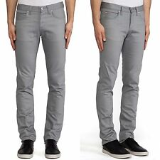 $150 30x37 NAKED & FAMOUS DEMIM SKINNY GUY GRIFFIN GRY SELVEDGE CHINO 12OZ JEANS