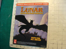 vintage video game item: LUNAR silver star story complete, w Maps c. 1998, 126pg
