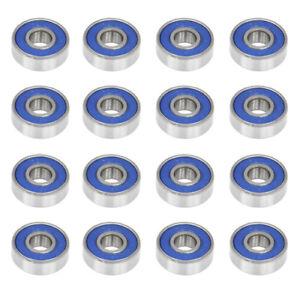 16 Frictionless Abec 9 Skateboard Roller Skate Wheels Scooter Spare Bearings