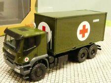 1/87 Herpa Iveco Trakker 6x6 Abrollcontainer-LKW Bundeswehr 746519
