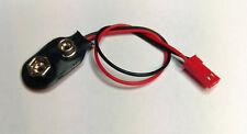 Batterieclip I-Form  9 V Blockbatterie auf JST / BEC-Stecker Adapterkabel 130 mm