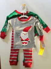 Just One You Carter's Toddler Baby Christmas Pajamas 12 M NWT 100% Cotton 2 Pack
